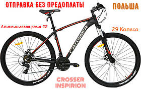 Гірський Велосипед Crosser Inspiron 29 (22 рама) Чорно-Червоний