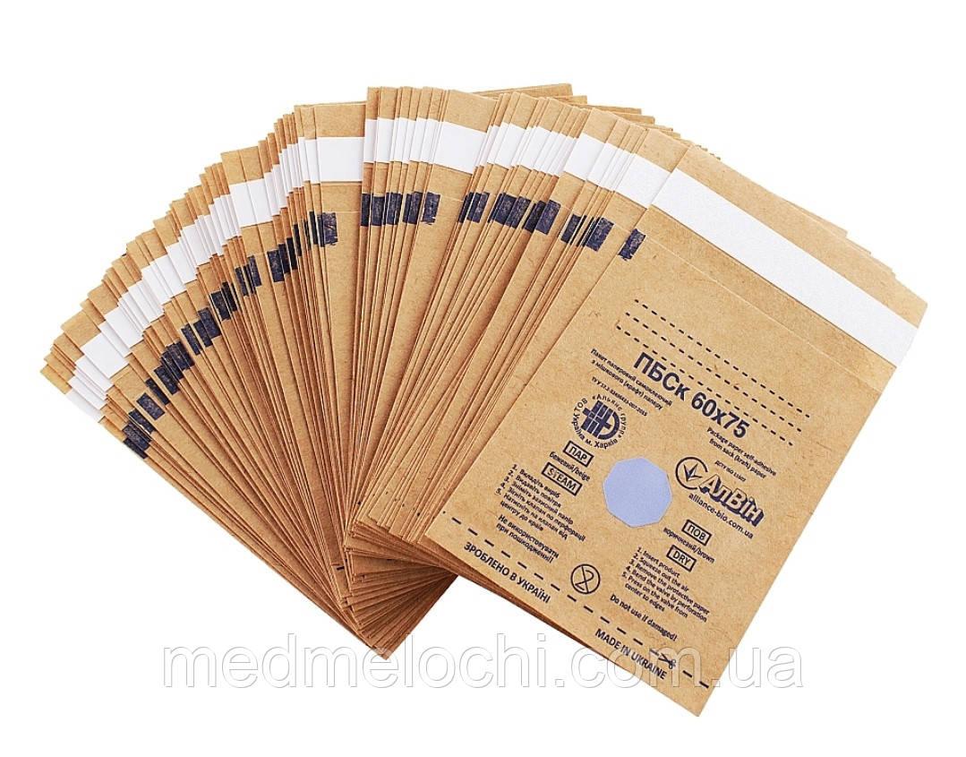 Пакети паперові самоклеючі з мішкового (крафт) паперу ПБСк 60*75 No 100