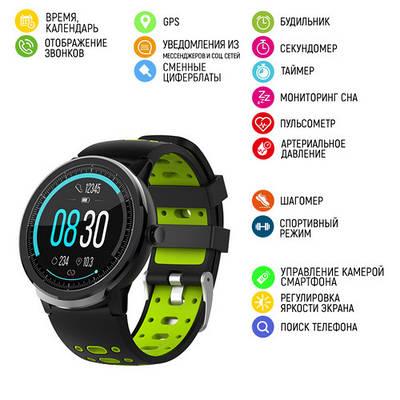 Наручные смарт-часы Modfit C21 Black-Green