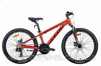 "Велосипед 24"" Leon JUNIOR AM DD 2021 червоний"