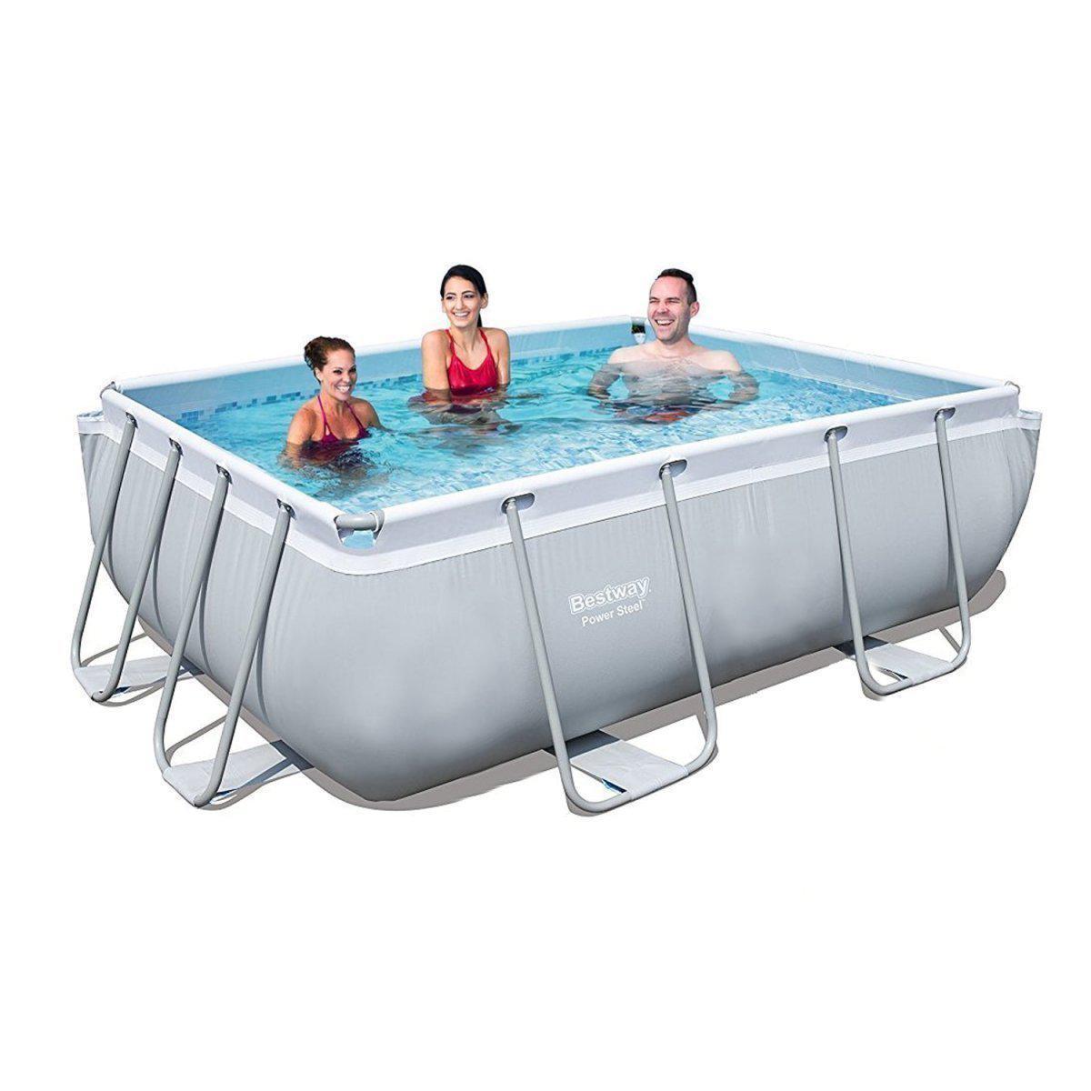 Каркасный бассейн Bestway 56629, 282 х 196 х 84 см (1 248 л/ч, дозатор)