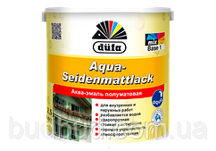 Акваэмаль Aqua-Seidenmattlack Dufa белый полумат 0.75 л