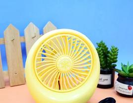 Портативный USB мини-вентилятор с аккумулятором Mini Fan SQ1978 Yellow, фото 3