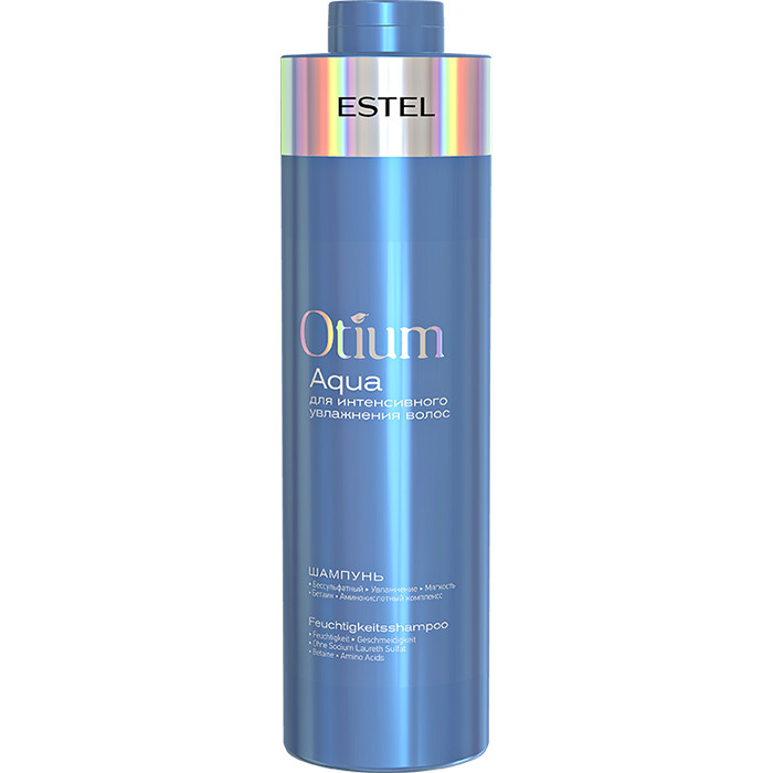 Шампунь безсульфатний Estel Otium Aqua для інтенсивного зволоження волосся 1000 мл