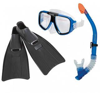 Набір для підводного плавання Intex 55957 ласти, трубка і маска 3 в 1 Синій