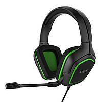 Игровые наушники iPega PG-R006 с регулируемым микрофоном (Черно-зеленый)