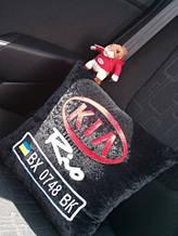Автомобильная подушка с добавлением гос.номера