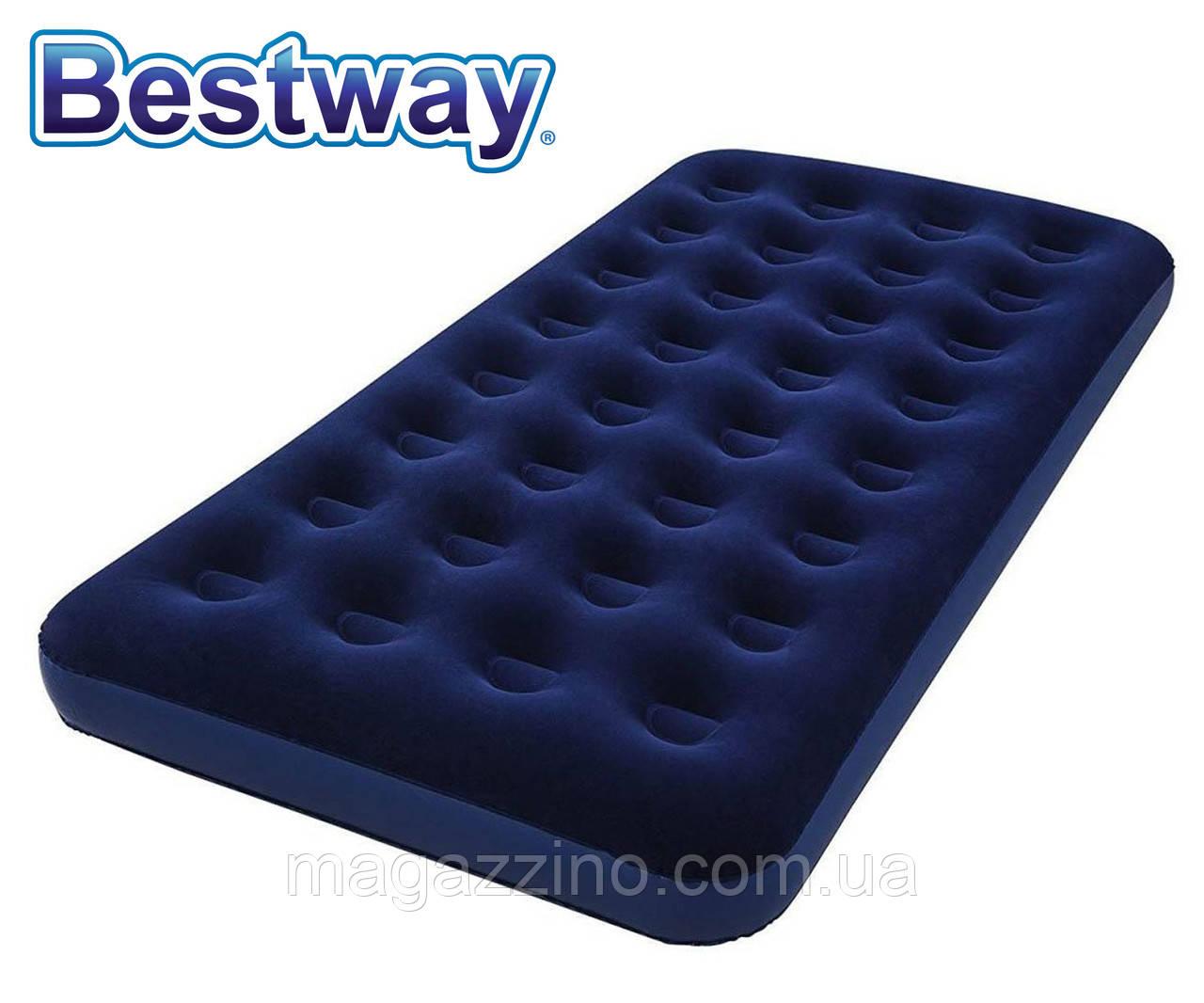 Одномісний надувний матрац Bestway Pavillo з велюровим покриттям, 188x99x22 див.