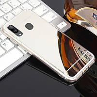 Чехол Fiji Mirror для Samsung Galaxy A10s (A107) силикон зеркальный бампер металлик