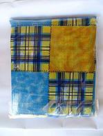 Полуторное постельное белье сине-желтое
