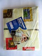 Постельное белье полуторное на бежевом кубики