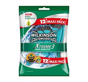 Одноразові станки для гоління Wilkinson Sword Xtreme 3 Pure Sensitive (12 шт.) 01607