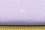 """Лоскут ткани бязь с мелкой полоской сиреневого цвета """"Бамбук"""", размер 80*60 см, фото 2"""