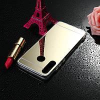 Чехол Fiji Mirror для Samsung Galaxy A20s (A207) силикон зеркальный бампер золотой