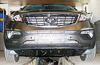 Декоративно-защитная сетка радиатора Kia Sportage 2010-  фальшрадиаторная решетка, бампер, фото 1