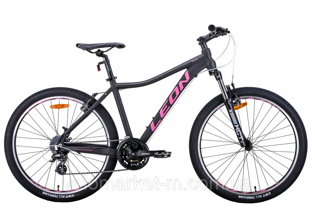 """Велосипед 26"""" Leon HT-LADY 15"""" 2021 графітовий з малиновим"""