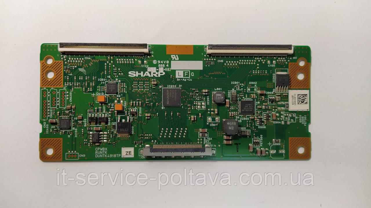 Плата T-CON SHARP CPWBX RUNTK DUNTK 4918TP для телевізора Philips