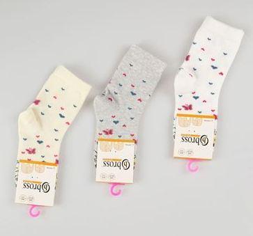 Набір 3 шт. Дитячі шкарпетки з бавовни з малюнком Bross