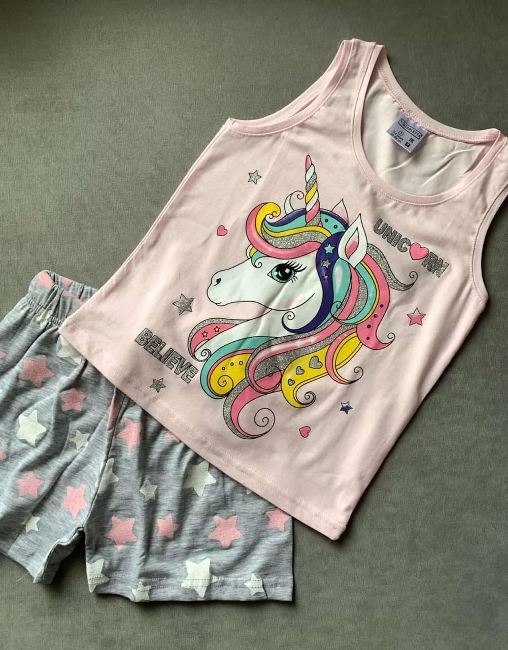 Детская для девочек пижама майка и шорты Nicoletta