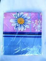 Постельное белье двуспальное - голубое с розовым