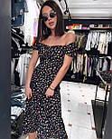 Платье женское стильное с коротким рукавом, фото 3