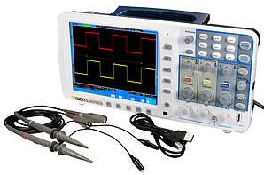 Осцилограф OWON SDS7102 (100 МГц, 2 каналу, 1 ГВ/с) з акумуляторною батареєю.