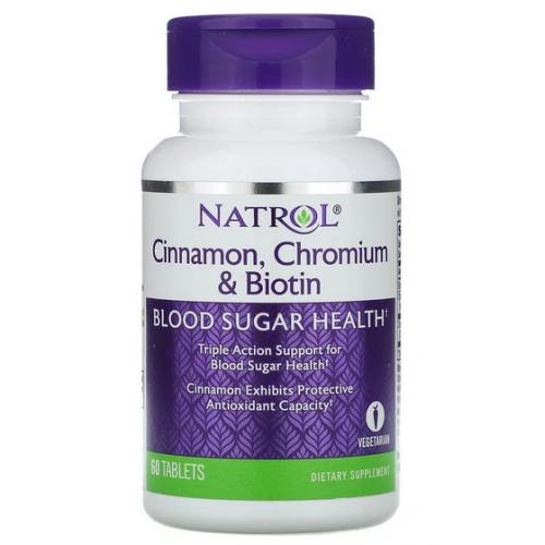 Cinnamon, Chromium & Biotin - 60 таб