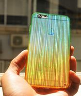 Мерцающий голубой силиконовый чехол iphone 6/6S