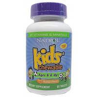 Детские витамины и минералы Kid's Chewable 6 & Up Orange Flavor - 60 таб