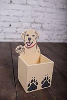 Шкільне приладдя підставка для олівців та ручок: Веселий пес, фото 1