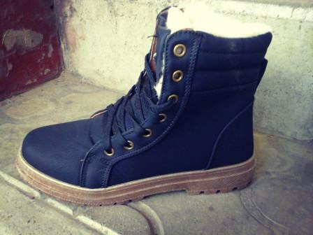 bee78b25 Женские ботинки на меху DUAL тёплые зимние чёрные высокие -  Интернет-магазин