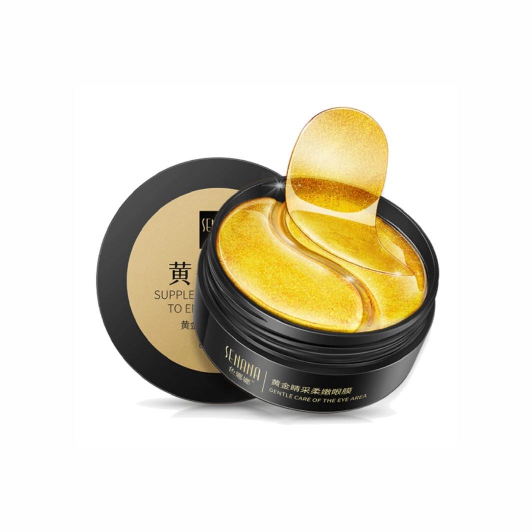 Подтягивающие гидрогелевые патчи с золотом и ромашки Senana Supplement Collagen To Enjoy Eye Care, 80г/60шт