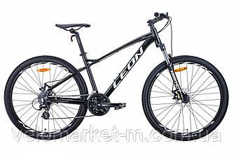 """Велосипед 27.5"""" Leon XC-90 16.5"""" 2021 чорно-білий з сірим"""