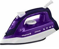 Утюг VILGRAND VEI0203 purple (2 кВт, нерж., паровий удар, вертикальное отпаривание)