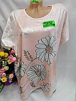 Жіноча футболка з мікрофібри Ромашка розмір 54-56, колір уточнюйте при замовленні, фото 1