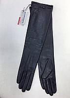 Перчатки женские кожаные Prada высокие черные