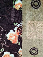 """Плед из микрофибры """"Цветочная полоса"""" (200х220), фото 3"""