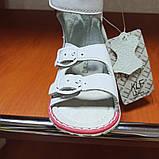 Босоножки ортопедические модные красивые оригинальные нарядные белого цвета для девочки., фото 2