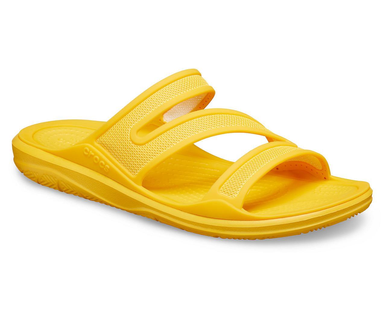 Шльопанці жіночі сандалі Крокси оригінал / Crocs women's Swiftwater Telluride Sandal (206334), Жовті