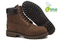 Ботинки Classic Timberland 6 inch Brown, фото 1