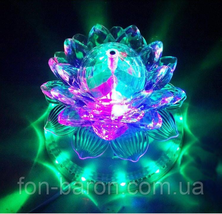 """Светодиодный вращающийся разноцветный """"Лотос""""  LEIWEN, фото 1"""