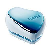 Компактний гребінець для волосся Tangle Teezer Compact Styler Sky Blue Delight Chrome (5060630046682), фото 1