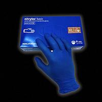 Перчатки нитриловые синие: Mercator Medical nitrylex (в уп. 100 шт), неопудренные, нестерильные размер: XL