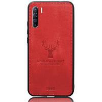 Чехол Deer Case для Oppo Reno 3 / Find X2 Lite Red