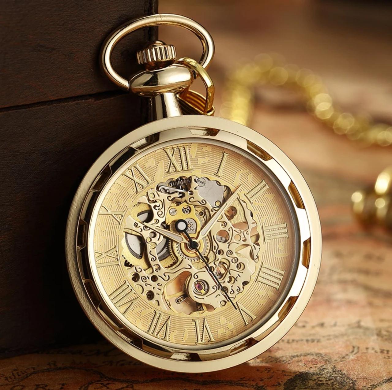 Карманные мужские часы механика