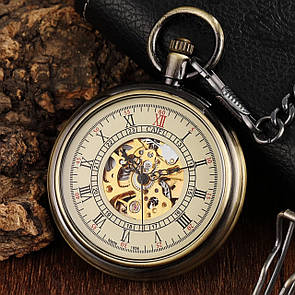 Карманные мужские часы механика, фото 2