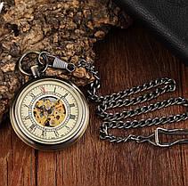 Карманные мужские часы механика, фото 3