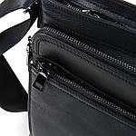 Сумка планшет чоловіча шкіряна через плече BRETTON чорна (06-135), фото 4