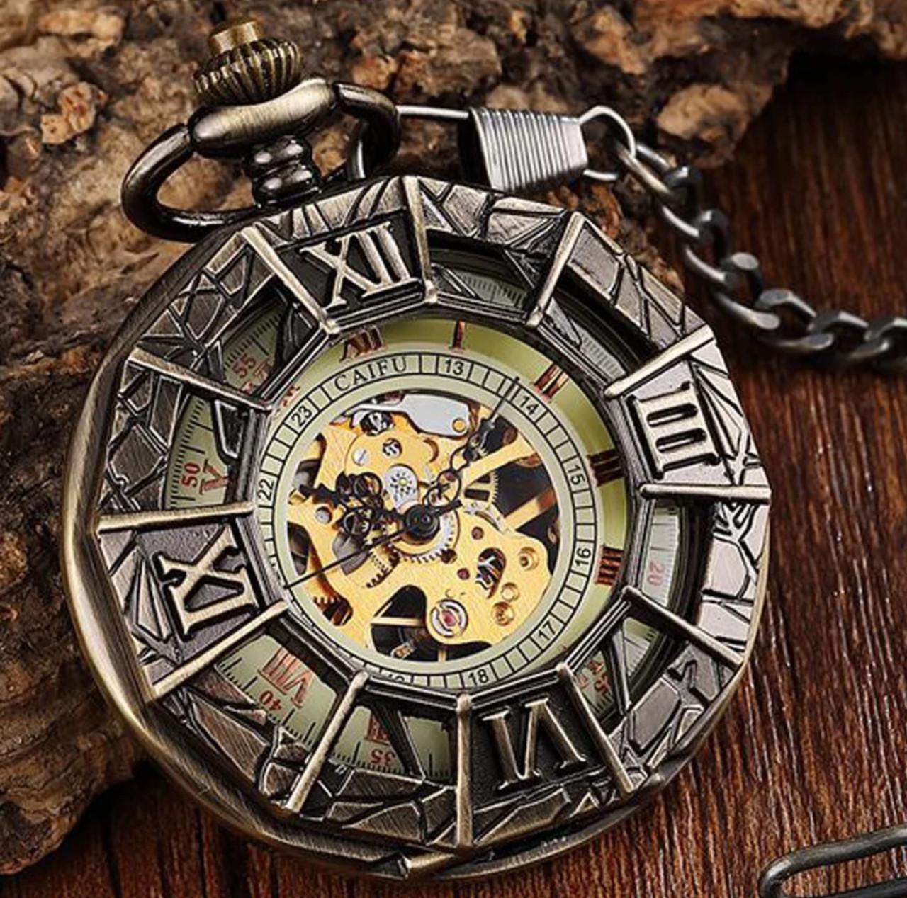 Кишенькові чоловічі годинники механіка павук