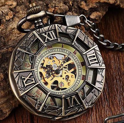 Кишенькові чоловічі годинники механіка павук, фото 2